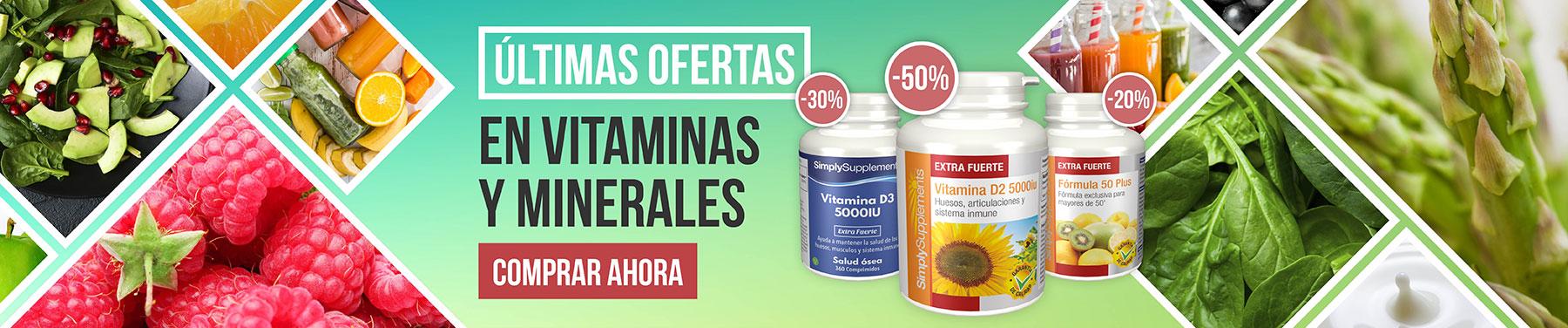 Últimas ofertas en vitaminas y minerales