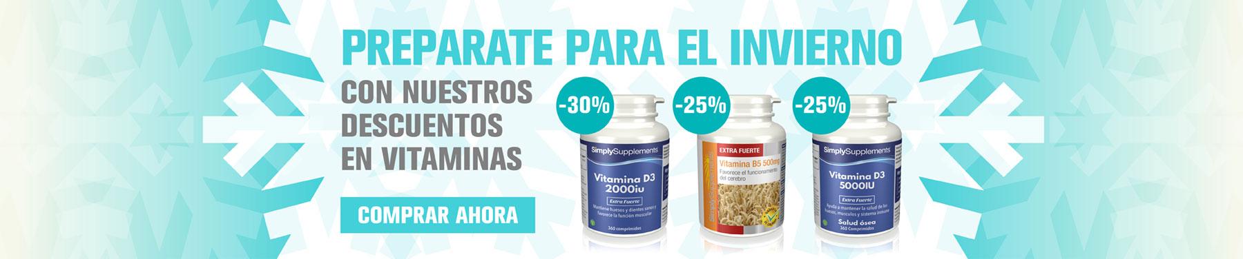 Preparate para el invierno con nuestros descuentos en vitaminas