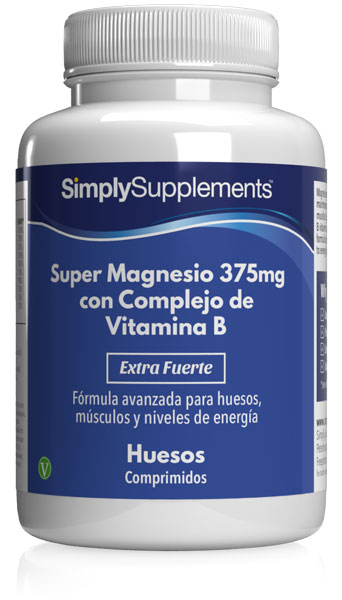 Super Magnesio 375mg con Complejo Vitamina B