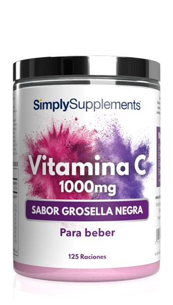Vitamina C en polvo 1000mg - Sabor Grosella negra