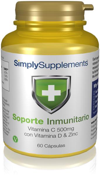 Soporte inmunitario con vitamina C, vitamina D y zinc