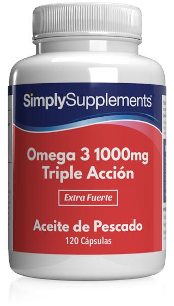 Omega 3 1000mg Triple Acción