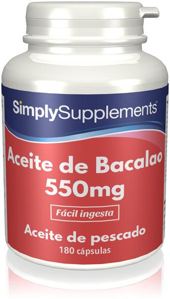 Aceite de Bacalao 550 mg