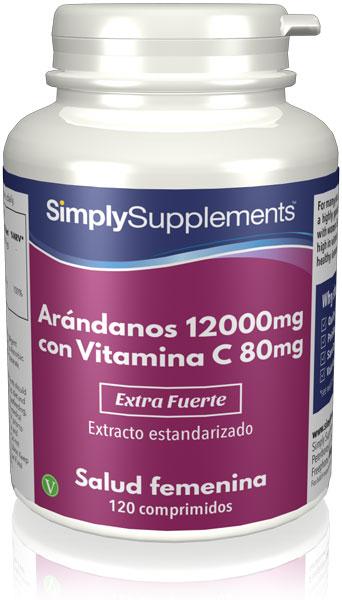 Arándanos 12000mg y Vitamina C 80mg