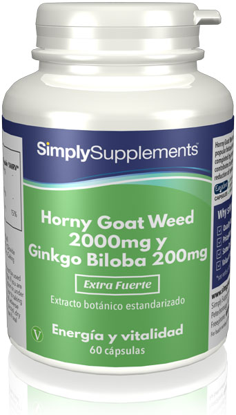 Horny Goat Weed 2000mg | Ginkgo Biloba 200mg