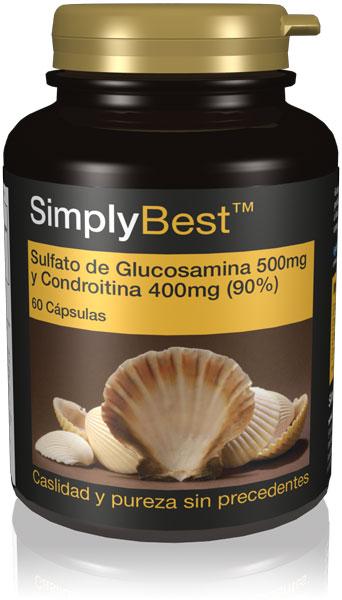 Sulfato de Glucosamina 500mg y Condroitina 400mg (90%)