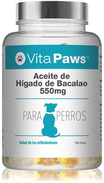 Aceite de Hígado de Bacalao 550mg para Perros